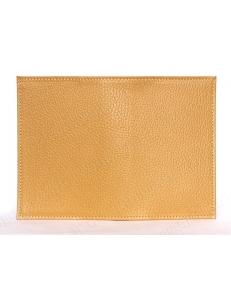 Заготовка обложка на паспорт, натуральная кожа, цвет желто-оранжевый, 13,0х19,0 см