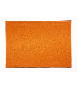 Заготовка обложка на паспорт, натуральная кожа, цвет красно-оранжевый, 13,0х19,0 см