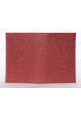 Заготовка обложка на паспорт, натуральная кожа, цвет красный, 13,0х19,0 см