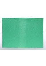 Заготовка обложка на паспорт, натуральная кожа, цвет светло-зеленый, 13,0х19,0 см