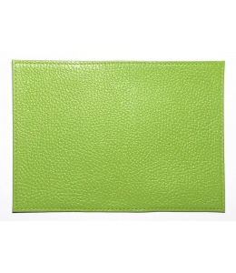 Заготовка обложка на паспорт, натуральная кожа, цвет салатовый, 13,0х19,0 см
