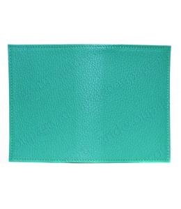 Заготовка обложка на паспорт, натуральная кожа, цвет бирюзовый, 13,0х19,0 см