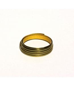 Витражная лента самоклеящяяся двойная Золото, 3 мм х 1м