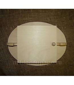 Заготовка ключница с овальным основанием, 25х33х7 см, Россия