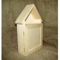 Заготовка ключница домик с дверцей, сосна, 18х7х31 см, Россия