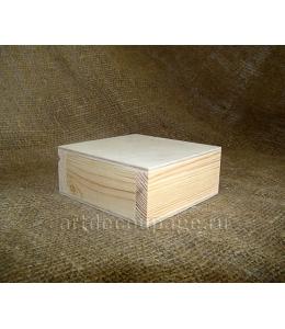 Заготовка шкатулка квадратная малая, сосна, 9,5х9,5х4 см, Россия