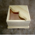 Заготовка салфетница фигурная из сосны, 16,5х16,5х11,5 см, Россия