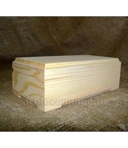 Заготовка шкатулка купюрница с фаской из сосны, 18х9х6.5 см, Россия