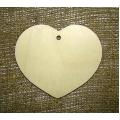 Заготовка плоская фигурка Сердце широкое, фанера, 10х9,3 см
