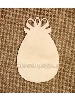 Заготовка плоская фигурка Пасхальное яйцо 10 см