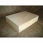 Заготовка шкатулка большая для бумаг, сосна, 33х26х7 см, Россия