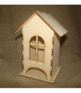 Заготовка чайный домик с окошком, фанера, 11х11х19 см, Россия