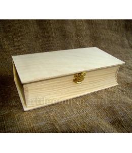 Заготовка шкатулка книжка, сосна, 13х22,5х6 см, Россия