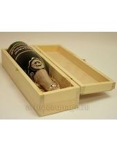 Заготовка короб для вина, сосна, 38х11х9.5 см, Россия
