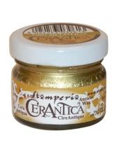 """Воск золотой металлик """"Cera Antica"""", для металлического эффекта и патинирования, Stamperia K3P15G"""
