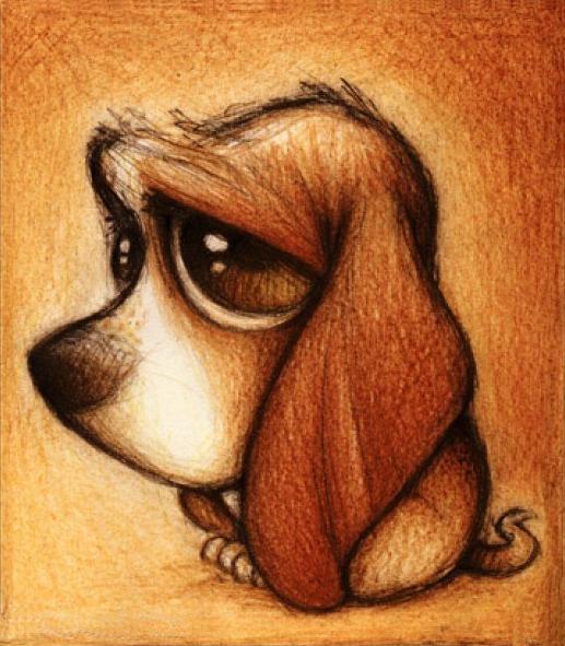 Картина стразами Хмурый пес, 25х30 см, Алмазная живопись