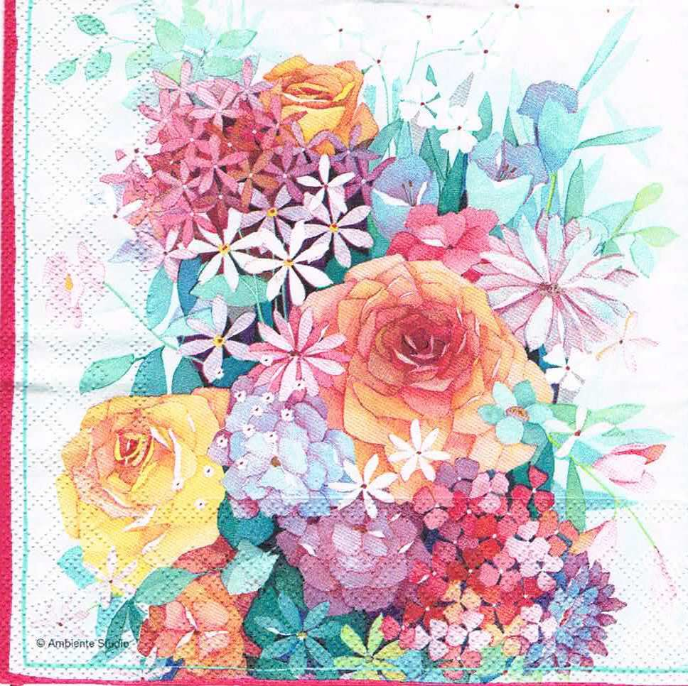 Салфетка для декупажа Букет с розами