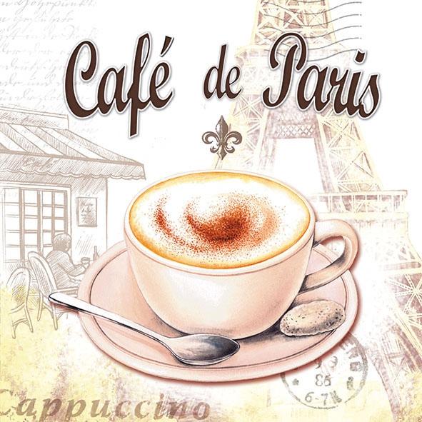 Салфетка для декупажа Cafe de Paris