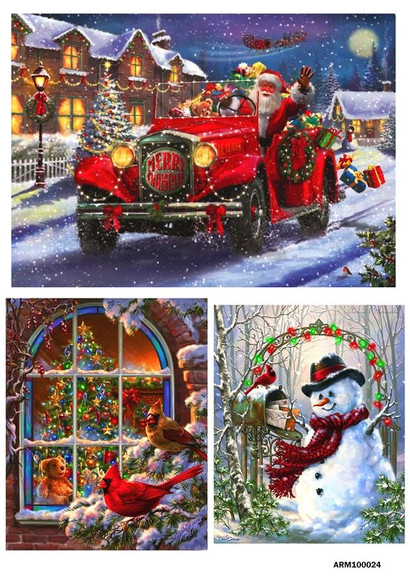 рисовая бумага для декупажа Рождественские сюжеты