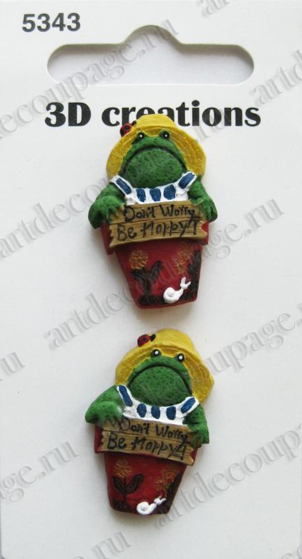Декоративные объемные пуговицы Баттон Фэшн Забавная лягушка, купить - магазин АртДекупаж