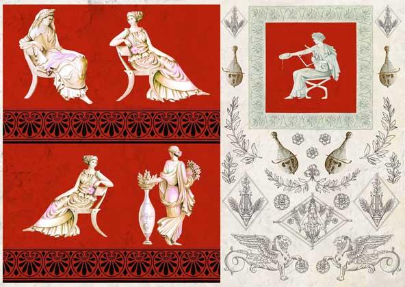Декупажные карты Calambour Древний Рим, купить