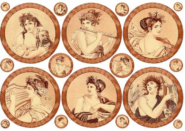 Декупажные карты Calambour Древний Рим, женские образы, купить