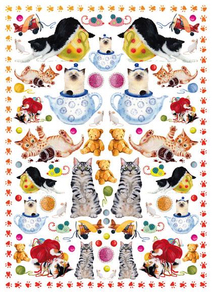 Декупажные карты Calambour CAL287 Котята играют, бумага для декупажа Каламбур
