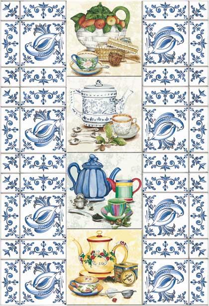 Декупажные карты Calambour CAL 295 Чай плитка