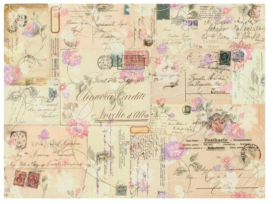 Декупажные карты Calambour DG 20 Почтовые открытки и цветы, купить