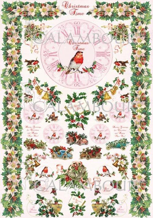 Рисовая бумага для декупажа Calambour DGR 268 Время Рождества