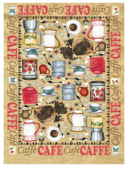 Рисовая бумага для декупажа Calambou DGR 043, Кофе, кофейные приборы, купить - магазин АртДекупаж