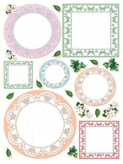 Рисовая бумага для декупажа Calambou DGR 050, Кружевные салфетки, купить - магазин АртДекупаж