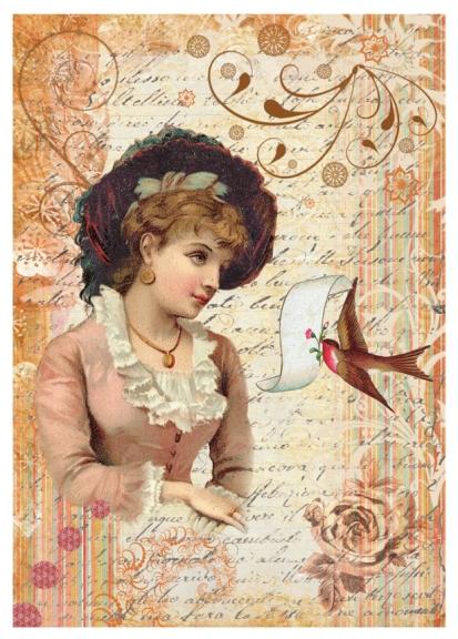Рисовая бумага для декупажа Calambour DGR096 Викторианская девушка
