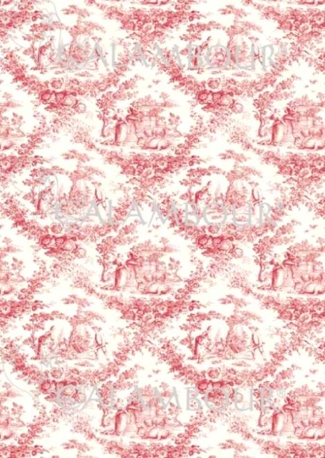 Рисовая бумага для декупажа Calambour EXCR 06, Розовая пастораль