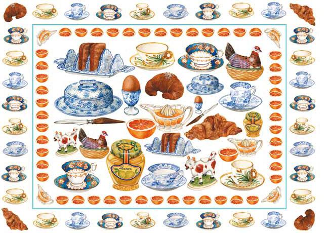 Декупажные карты Calambour, Завтрак, чашки, чай, купить