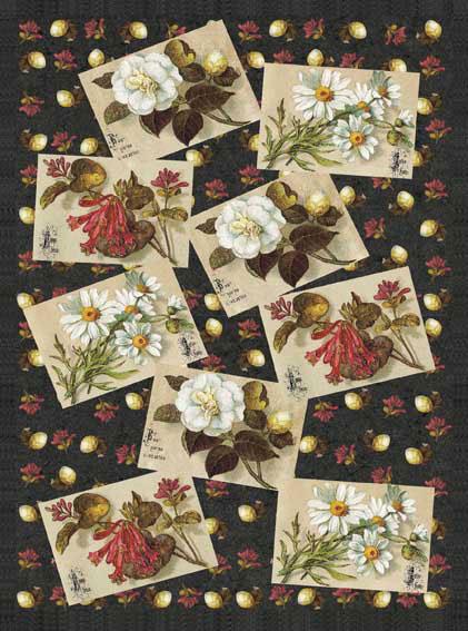 Декупажные карты Винтажные цветы, открытки, купить - магазин АртДекупаж