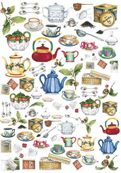 Декупажные карты Calambour, Чай, купить