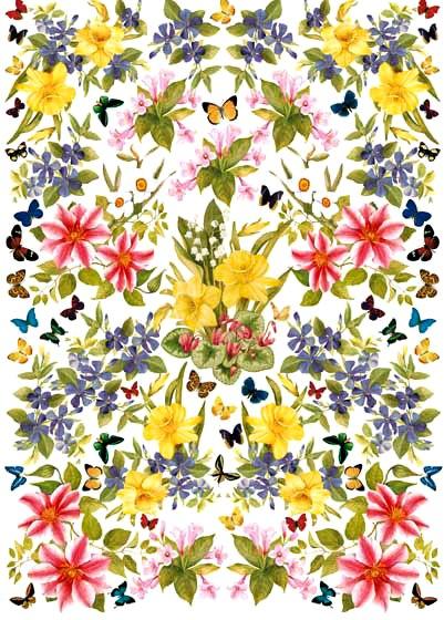 Декупажные карты Calambour EASY 194 цветы, акварель
