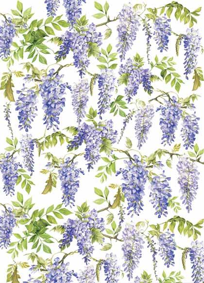 Декупажные карты Calambour цветы, глициния, купить - магазин АртДекупаж