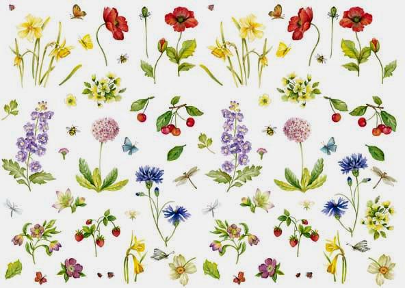Декупажные карты Calambour Easy 232 цветы, полевые цветы, купить