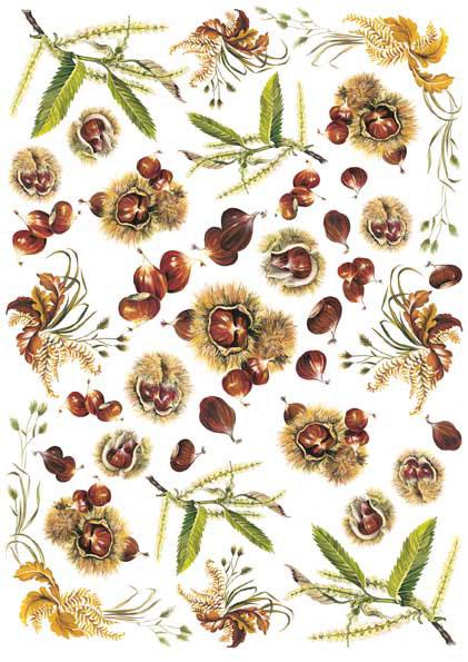 Декупажные карты Calambour цветы, каштаны