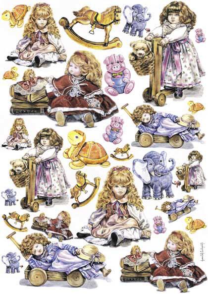 Декупажные карты детские, куклы, игрушки, Calambour, купить - магазин АртДекупаж