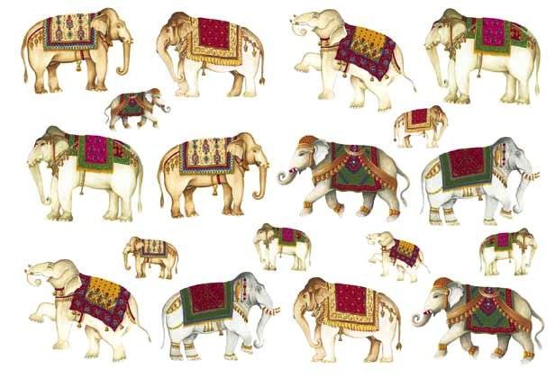Рисовая бумага для декупажа Calambour, Индийские слоны, купить - магазин АртДекупаж