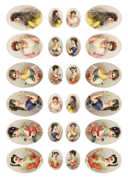 Рисовая бумага для декупажа Calambour Pau 025 Женские портрет
