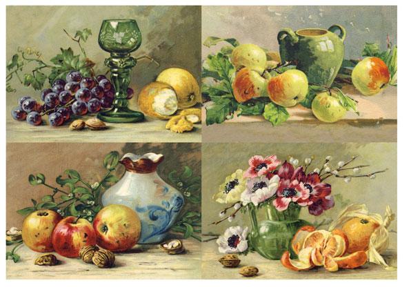 Рисовая бумага для декупажа Наюрморы, виноград, фрукты, Calambour Pau-026