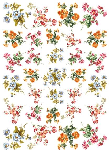 Рисовая бумага для декупажа Calambour Pau 033 цветы
