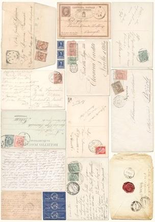 Рисовая бумага для декупажа Старые конверты Calambour Pau-051