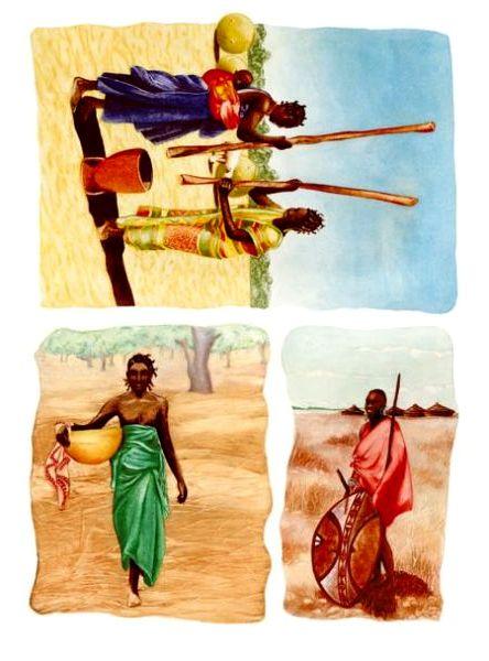 Рисовая бумага для декупажа Calambour, Африка, африканская деревня, купить