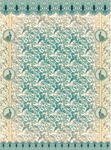 Рисовая бумага для декупажа Craft Premier Гобелен с павлинами, формат A4