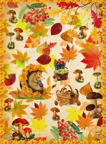Рисовая бумага для декупажа Craft Premier Осенние лисья и грибы, АртДекупаж